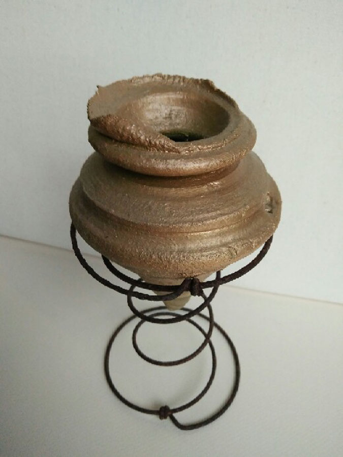 Wheel thrown.Clay,metal