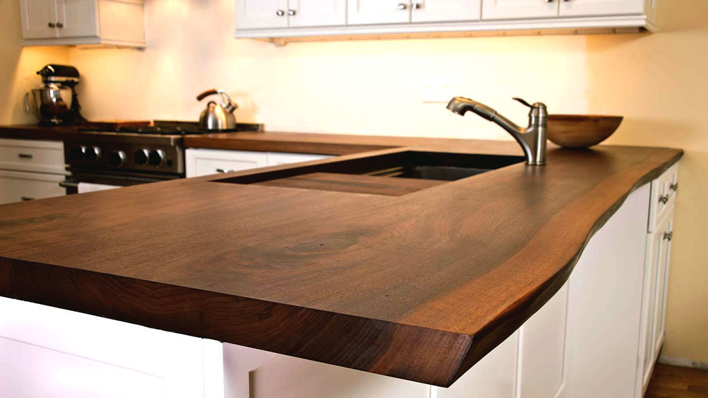 Live Edge Wood Countertop – Kitchen