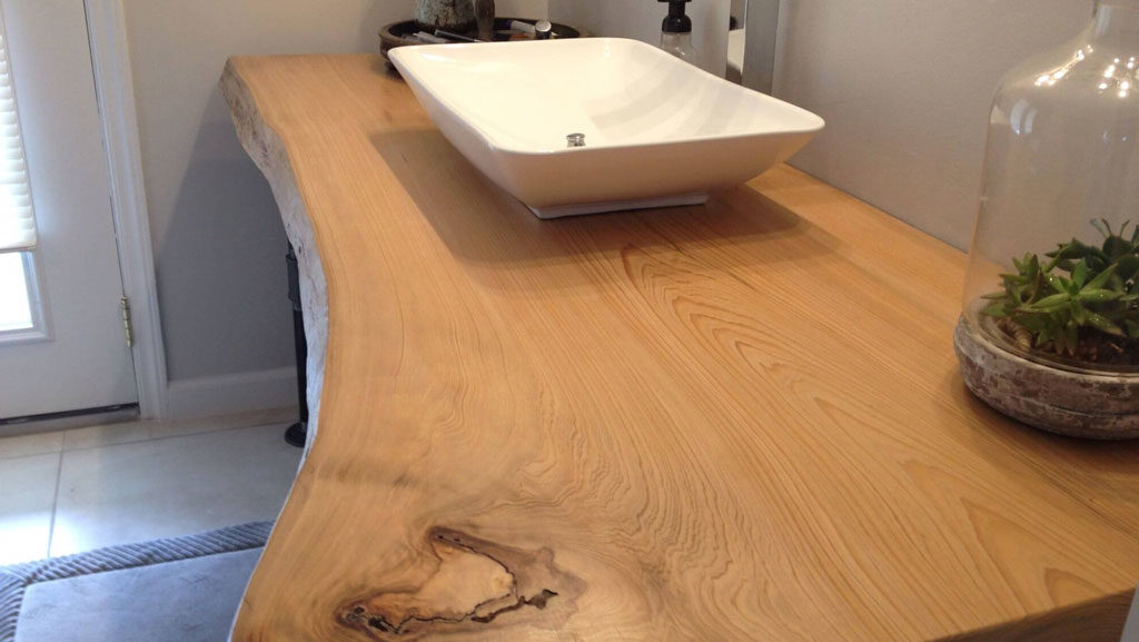 Wooden Slab – Live Edge Bathroom Vanity